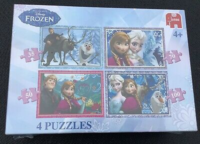 Disney Frozen 4-In-1 Jigsaw Puzzle by Jumbo - Brand New &