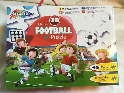 GRAFIX Children's 3D 45 Piece MY FIRST FOOTBALL Puzzle AGE