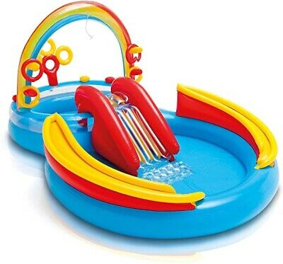 Intex Rainbow Rings Kids Activity Water Play Centre Swimming
