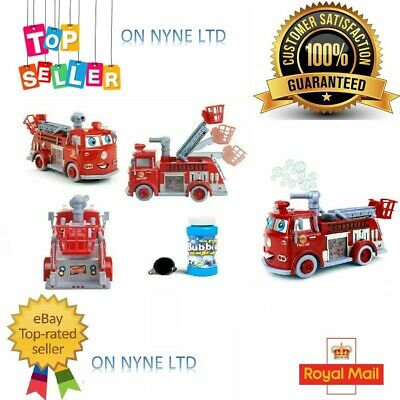NEW Fire Engine Truck Bump and Go Bubble Machine Blower