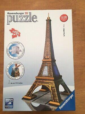 Ravensburger 3D Eiffel Tower Jigsaw Puzzle