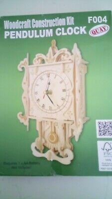 Quay Pendulum Clock Woodcraft Construction Kit FSC New
