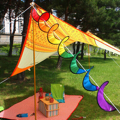 Camping Tent Foldable Rainbow Windmill Spiral Wind Spinner