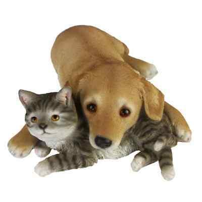 Esschert Design Dog and Cat Laying 30.5x40.8x12.5 cm Outdoor