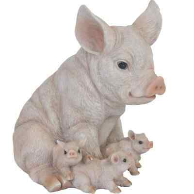 Esschert Design Pig with Piglets 19.4x22.3x24.3 cm Outdoor
