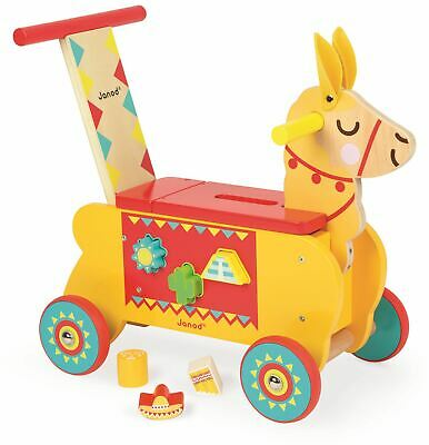 Janod LAMA RIDE-ON Wooden Toy BN