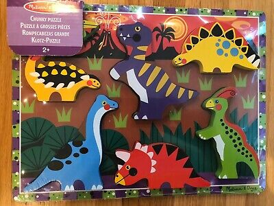 Melissa & Doug Dinosaur Chunky Puzzle Toy - free delivery