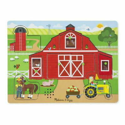 Melissa and Doug Around the Farm Sound Puzzle -  - NEW
