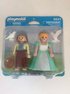 PLAYMOBIL  DUO-PACK PRINCESS AND MAIDEN BRAND NEW