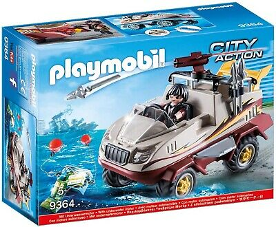 Playmobil  City Action Amphibious Truck - Motor, Cannon