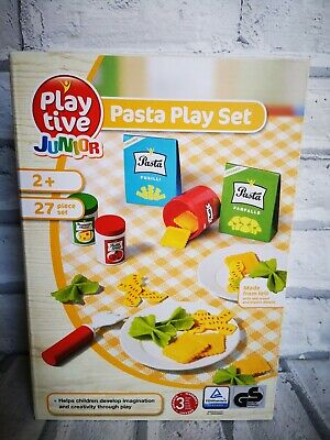 Playtive Toys Wooden & Felt Pasta Play Set Role Play for