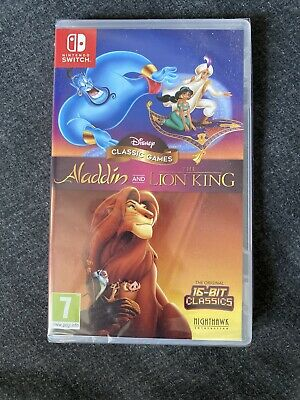 Disney Classic Games Aladdin and The Lion King (Switch) New
