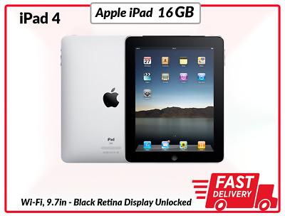 Apple iPad 4 16GB, Wi-Fi, 9.7in - Black Unlocked Used UK
