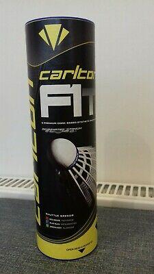 Carlton F1 Ti, White Badminton Synthetic Shuttlecocks, Pack