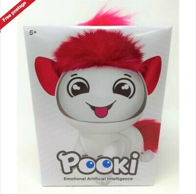 Pooki White Electronic Best Friend Pet 100+ Expressions