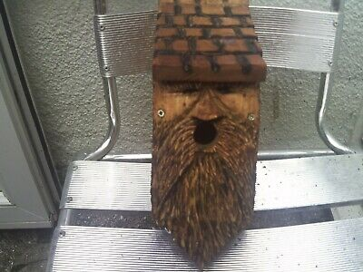 Wild Bird nesting box\\wood spirit design..