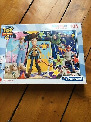 BRAND NEW Toy Story 4 Clementoni 104 Pieces SuperColor