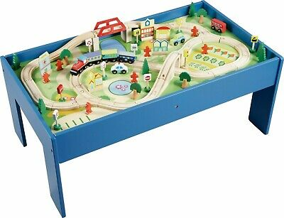 Chad Valley Children's Wooden 55 x 95cm Table and 90 Piece