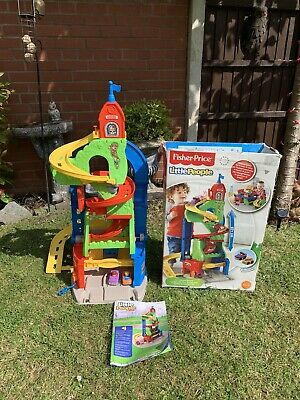 Fisher Price Little People Two Way Garage Including Two Cars