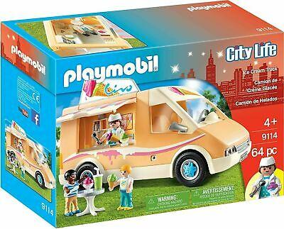 LOOK!! PLAYMOBIL City Life Ice Cream Truck 4+ Years 64