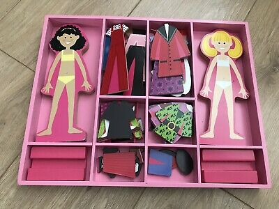 Melissa & Doug Magnetic Dress-up Wooden Doll Pretend Play