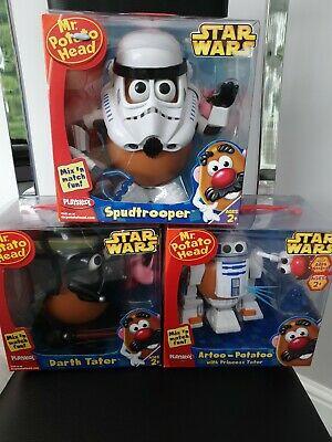 Mr Potato Head Starwars Artoo Potatoo Spudtrooper and Darth
