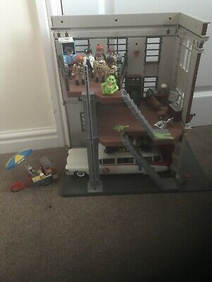 PLAYMOBIL  Ghostbusters Fire Headquarters With Car And