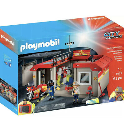 Playmobil City Action  Station of Fireman/Laptop