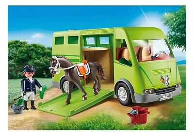 Playmobil Country Horse Box  Van Horse Figure Ramp and