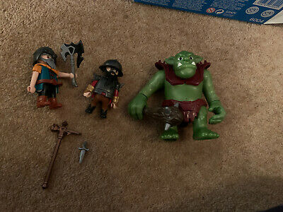 Playmobil  Giant Troll with Dwarf Fighters Playset