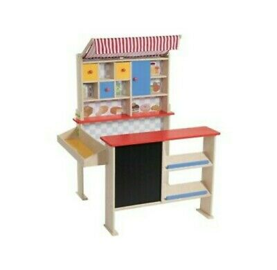 Playtive Junior Kids Wooden Toy Shop Supermarket Play Set