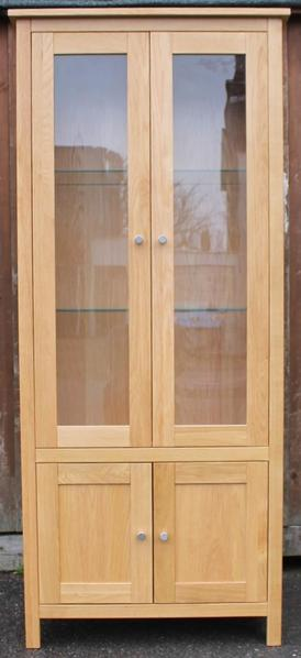 Corndell Nimbus Oak 4 Door Glazed Display Cabinet
