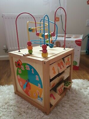 Baby toy - Mothercare Wooden Activity Cube