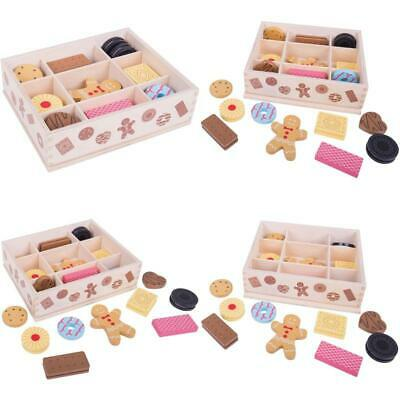 Bigjigs Toys Wooden Biscuit Box Assorted Wooden Biscuits -