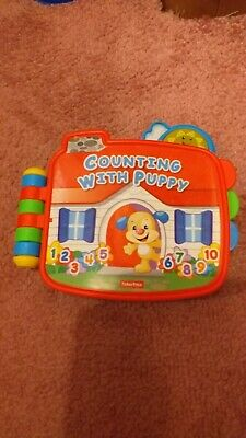 Fisher Price Laugh And Learn Counting With Puppy Book VGC
