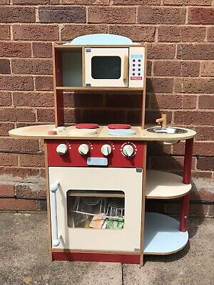 Kids Wooden Toy Kitchen Accessories Set