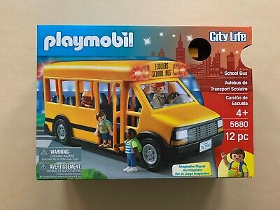 New Playmobil School Bus with Flashing Lights -  - City