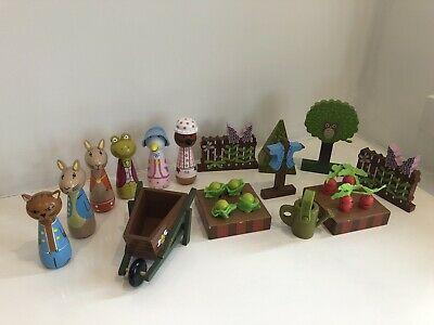 Orange Tree Toys Wooden Beatrix Potter Peter Rabbit Play Set