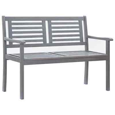 vidaXL Solid Eucalyptus Wood 2-Seater Garden Bench Grey