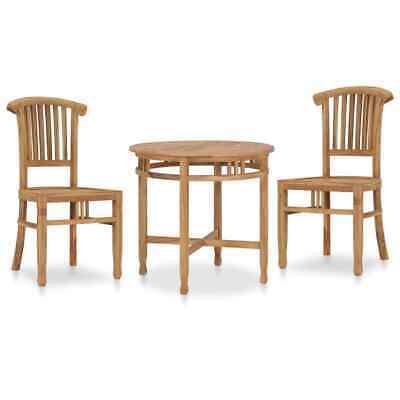 vidaXL Solid Teak Wood Garden Dining Set 3 Piece Kitchen Bar