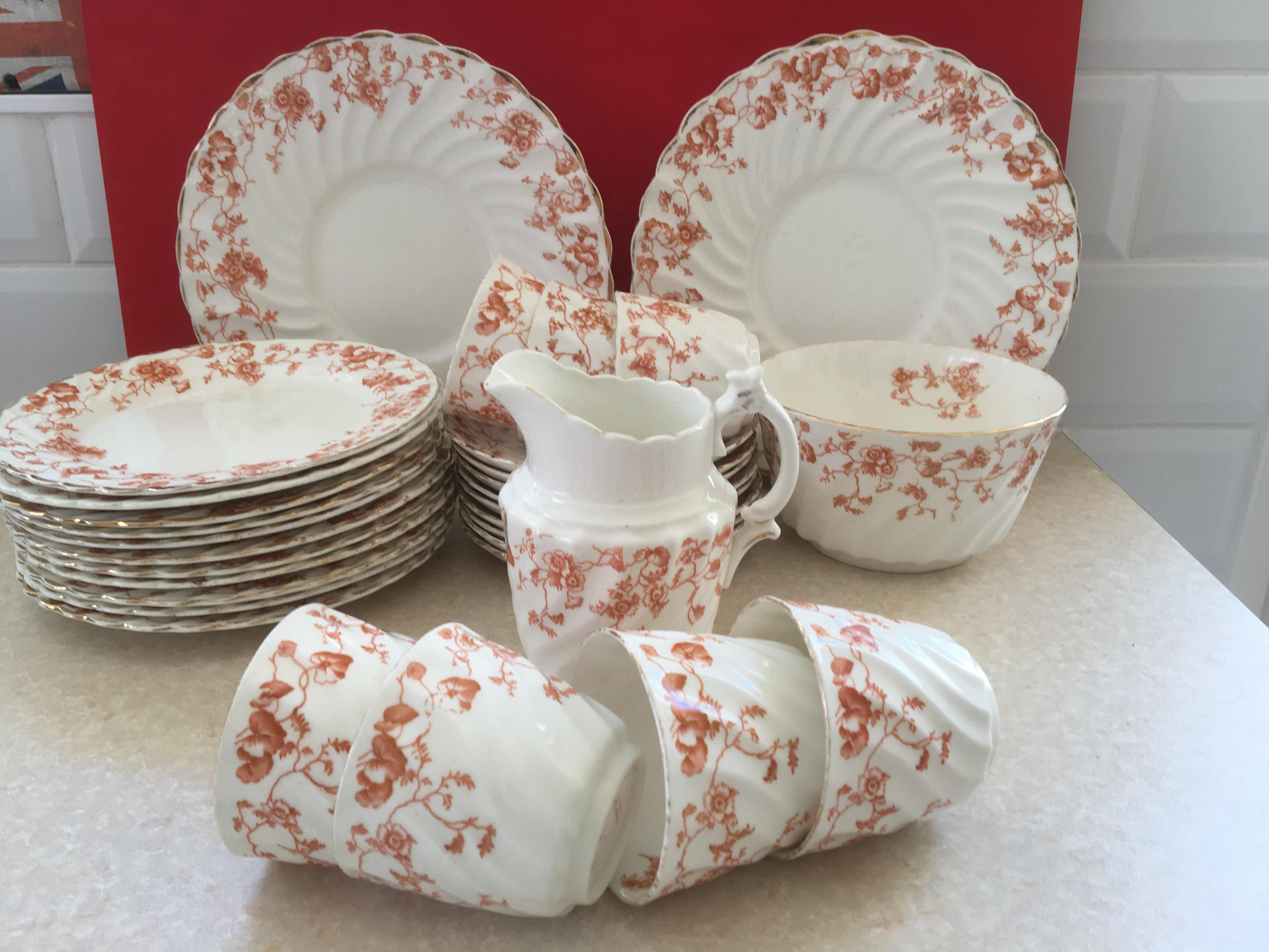 Antique Vintage China Tea Set by SF & Co of Stoke-on-Trent