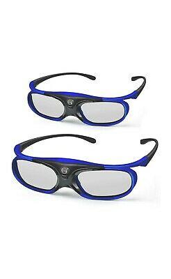 2 × 3D DLP Link Glasses, ELEPHAS 144Hz Rechargeable Active