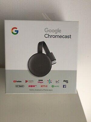 Google Chromecast 3rd Generation Full HD Wi-Fi Media