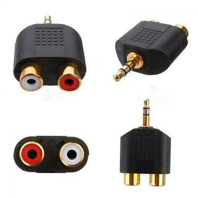 Plated Hot Stereo Audio Y Splitter 3.5mm Adapter Male Plug