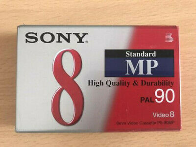 SONY STANDARD 8 MP PAL 90 VIDEO 8 NEW & SEALED HIGH Quality