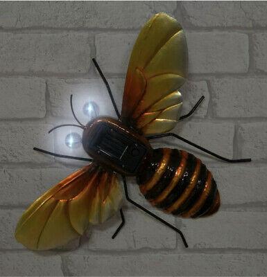 Handmade Novelty Outdoor Solar Wall Art Bumble Bee Light