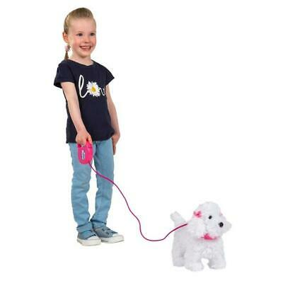 Electronic Walking Pet White Fluffy Poodle Puppy Remote