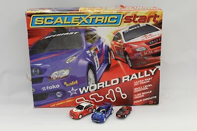 SCALEXTRIC C Start World Rally Slot Car Racing With 3