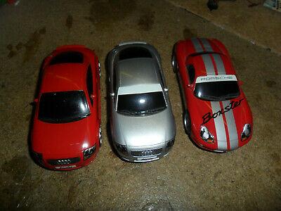 Scalextric Audi TT and Porsche cars