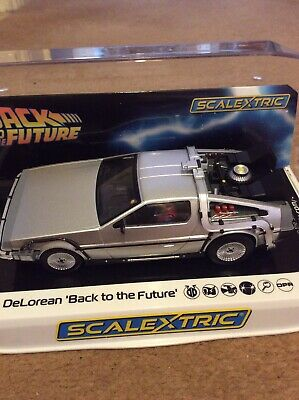 Scalextric Slot Car C DeLorean - 'Back to the Future'
